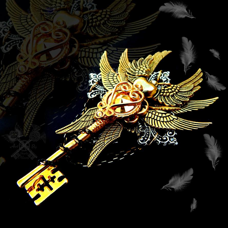 Oath of Light Skeleton Key Necklace