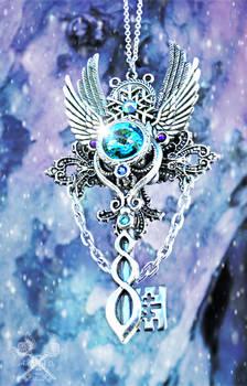 Frost Whisper Skeleton Key Necklace