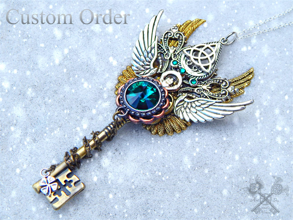 Beautiful Celtic Skeleton Key Commission by ArtByStarlaMoore