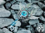 Birthday Fantasy Skeleton Key Necklace