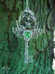Guardian Alpha Skeleton Key Necklace