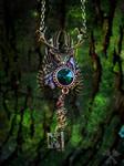 Autumn Spirit Skeleton Key Necklace