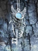 Cloud Chaser Fantasy Key Necklace by ArtByStarlaMoore