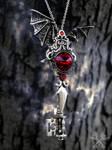 Vampyric Dragon Fantasy Key Necklace