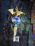 Featherwinds Dragon Fantasy Key Necklace