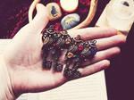 House Owl Skeleton Key Necklaces
