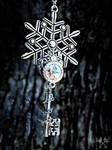 Frosted Wonderland Skeleton Key Necklace