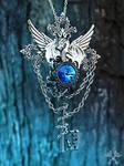 Tundra Dragon Skeleton Key Necklace