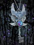 Wizard's Blood Skeleton Key Necklace