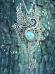 Release the Kraken Skeleton Key Necklace