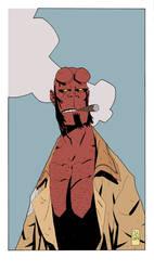 hellboy color by boston-joe