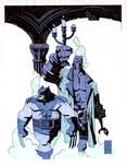 hellboy and logan colors