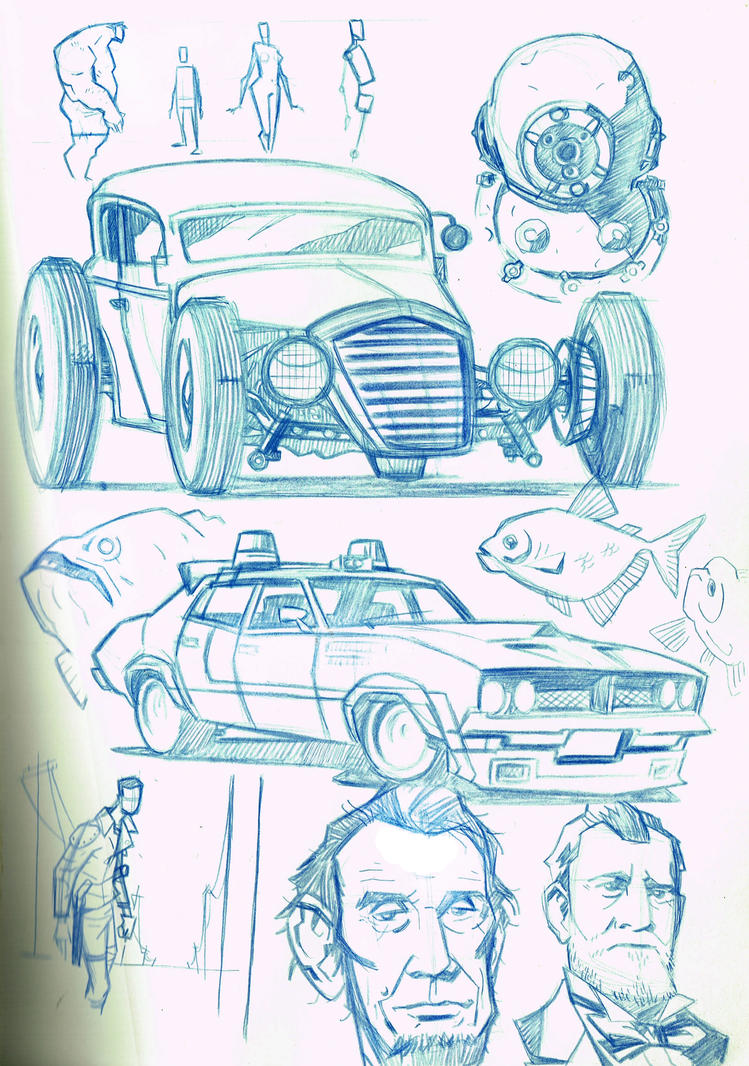 random sketches by boston-joe on DeviantArt