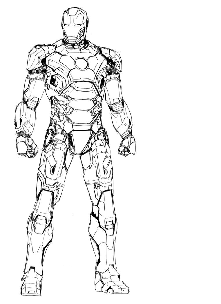 Iron Man Mark 2 - Free Coloring Pages