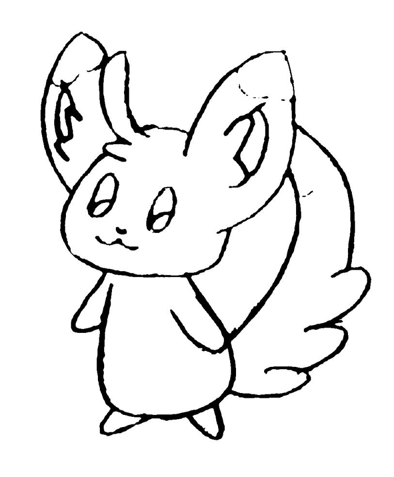 pokemon coloring pages minccino - photo#19