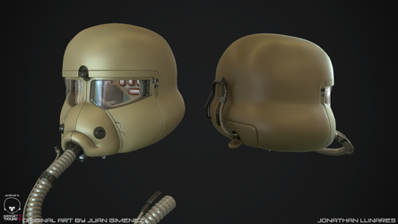 Sci-fi helmet High poly 1