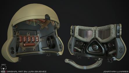 Sci-fi helmet High poly 2