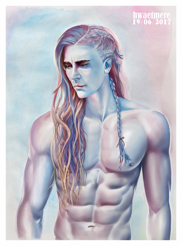 rainbow Thranduil / Lee Pace by hwaetmere