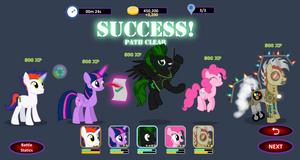 Equestria Defense Warriors - Winning Screen