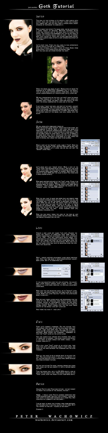 Goth Tutorial by wachowicz
