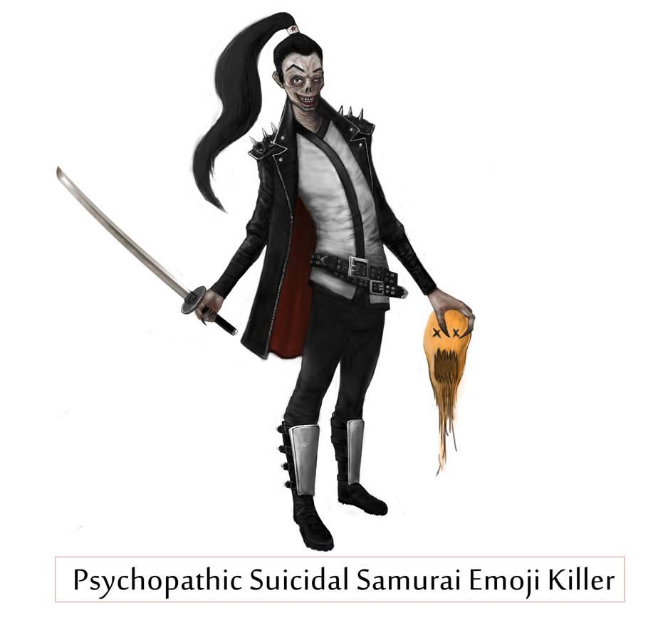 Psychopathic Suicidal Samurai Emoji Killer by Vortican on DeviantArt