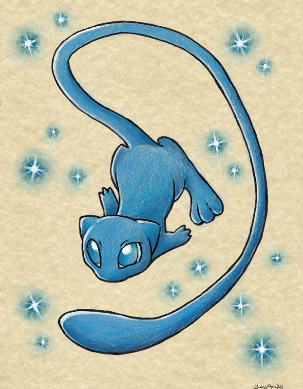 Commission: Shiny Mew by the19thGinny