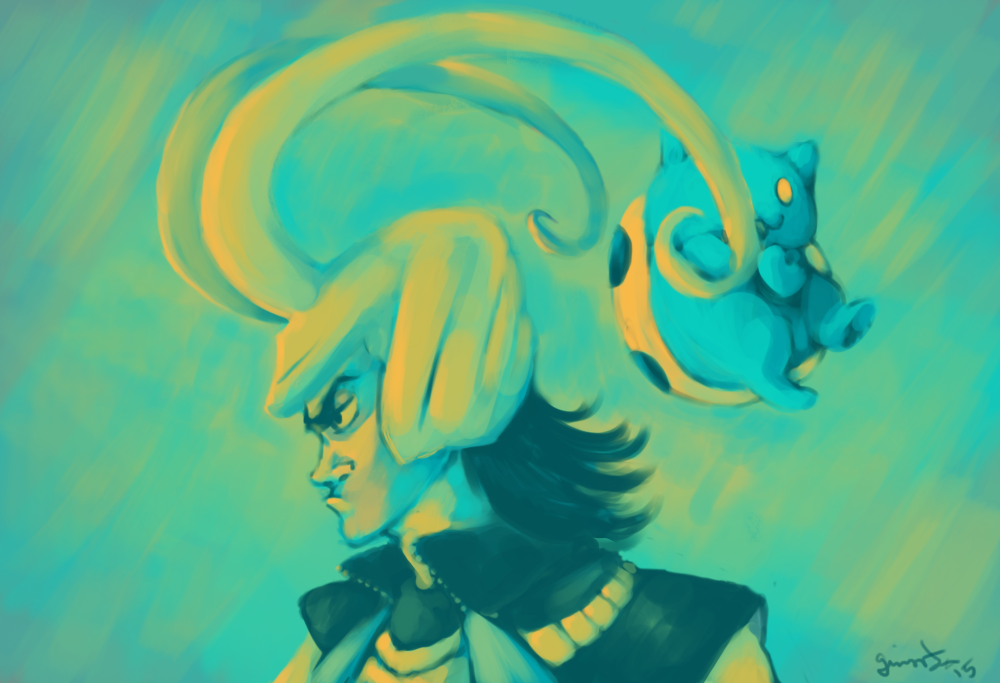 Speedpaint: Loki and Catbug by the19thGinny