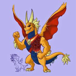 MHA/Spyro = DRAGON MIGHT by the19thGinny