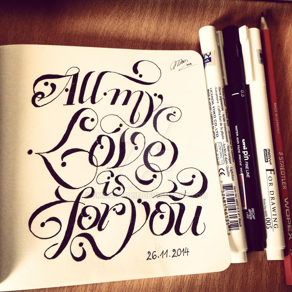 all my love is for you by emmapookie on deviantart
