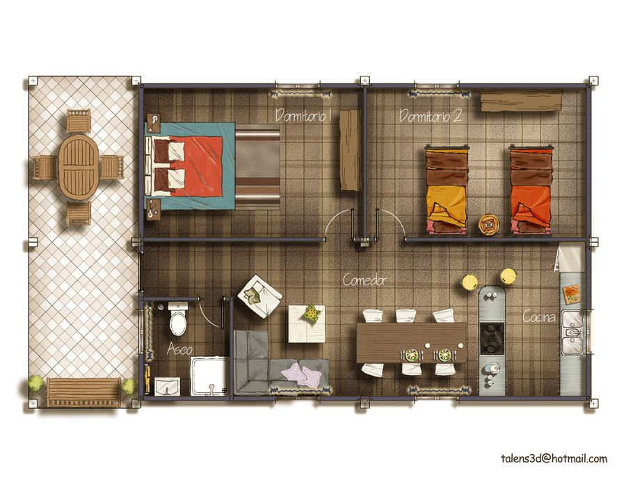 Floor Plan 2d By Talens3d On Deviantart