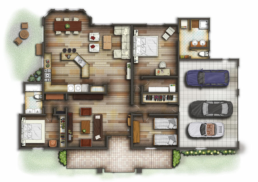 Floorplan 2d By Talens3d On Deviantart