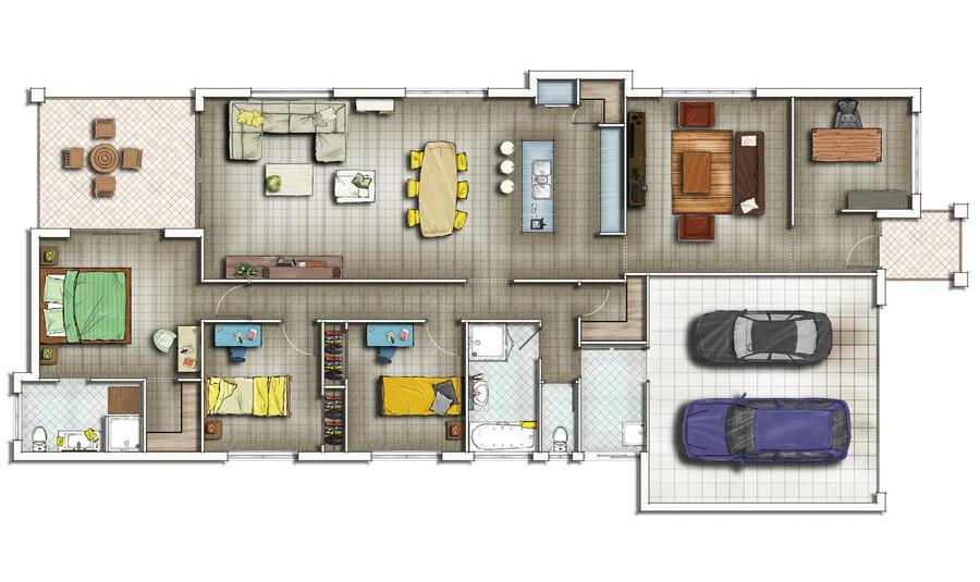 Floorplan 2d by talens3d on deviantart for 2d home plans