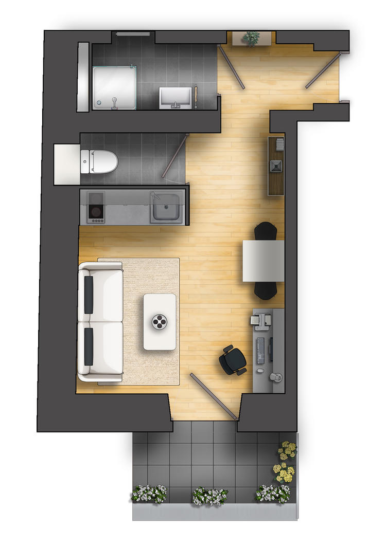 Floor Plan Rendering 2d By Talens3d On Deviantart