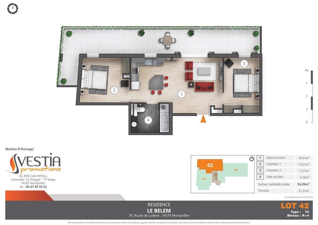 Floor plan rendering 2D by TALENS3D