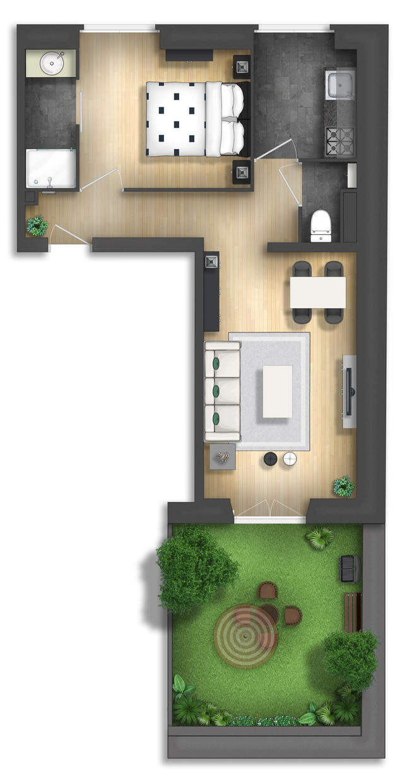 Floor plan rendering by TALENS3D