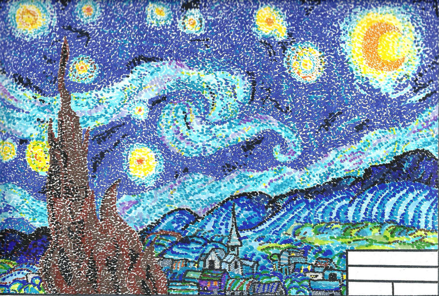 Dot Pointillism Painting Artist