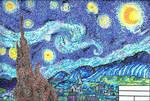 Pointillism Starry Night