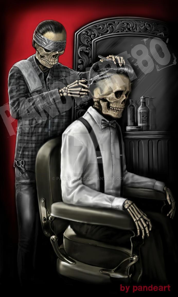Barber Art : barbershop skull by pandeart80 on DeviantArt