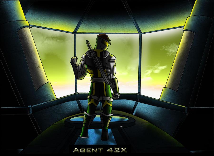 Agent 42x Fan Art Wallpaper for mja42x by Deathnaut95