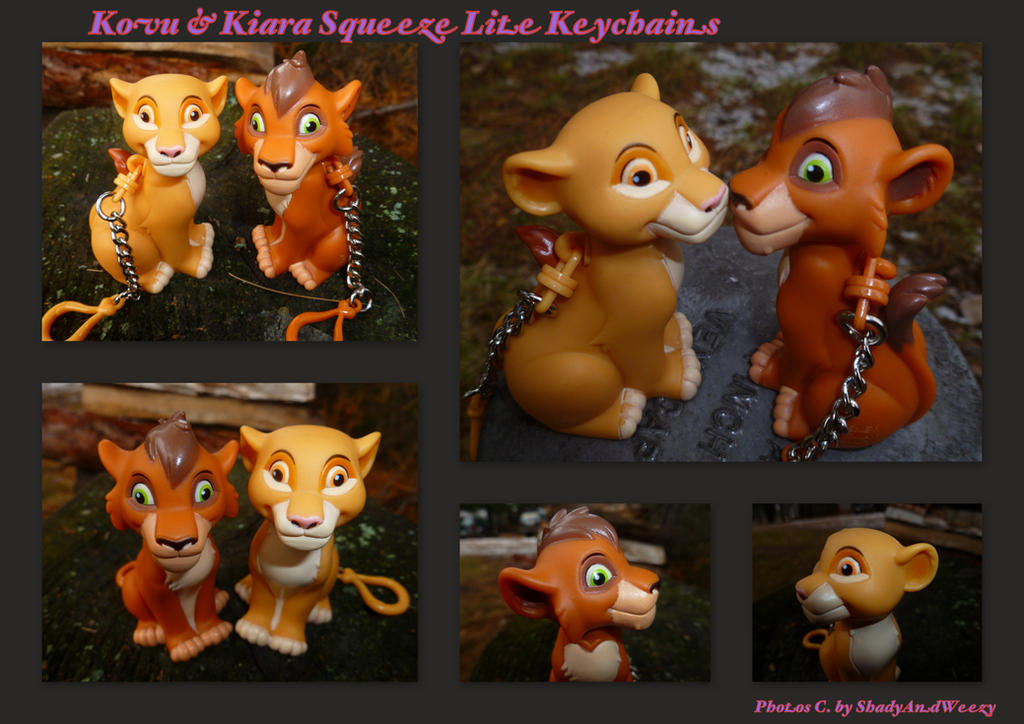 Kovu And Kiara Squeeze Lite Keychains by DoloAndElectrik
