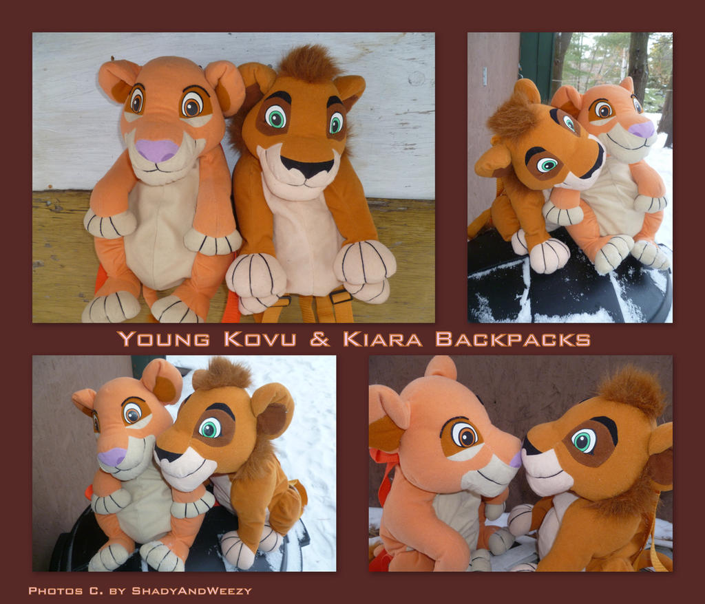 Young Kovu And Kiara Backpacks by DoloAndElectrik