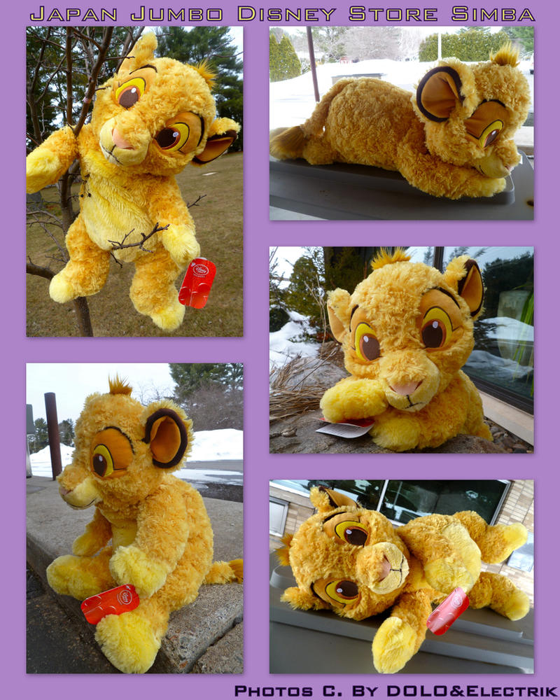 Japan Jumbo Disney Store Simba by DoloAndElectrik