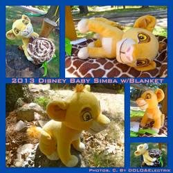 2013 Disney Baby Simba w/Blanket