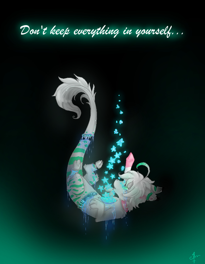 Don't keep everything in yourself by Crystalleye