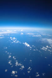 space atmosphere Blue stock