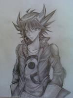 Yusei Fudo sketch by CountUchiha