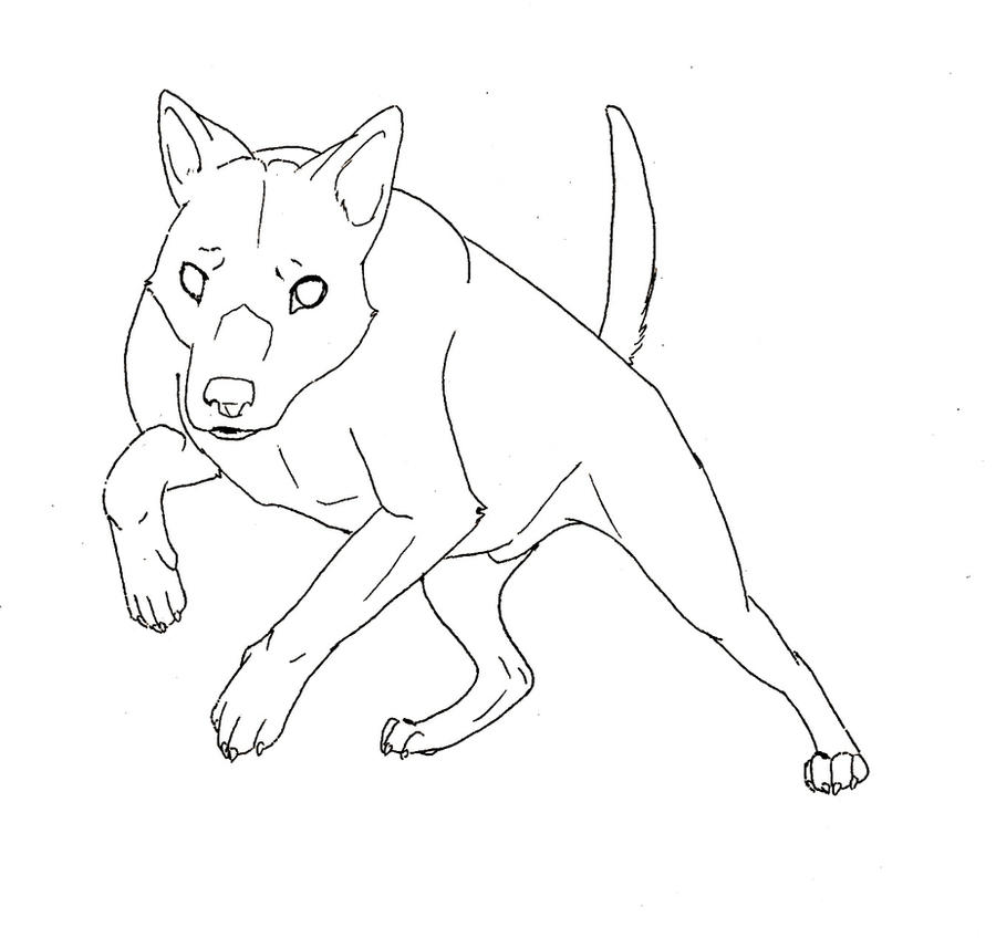 Cartoon wolf coloring pages wolf coloring pages free coloring pages - Red Cloud Australian Kelpie By Yazora On Deviantart