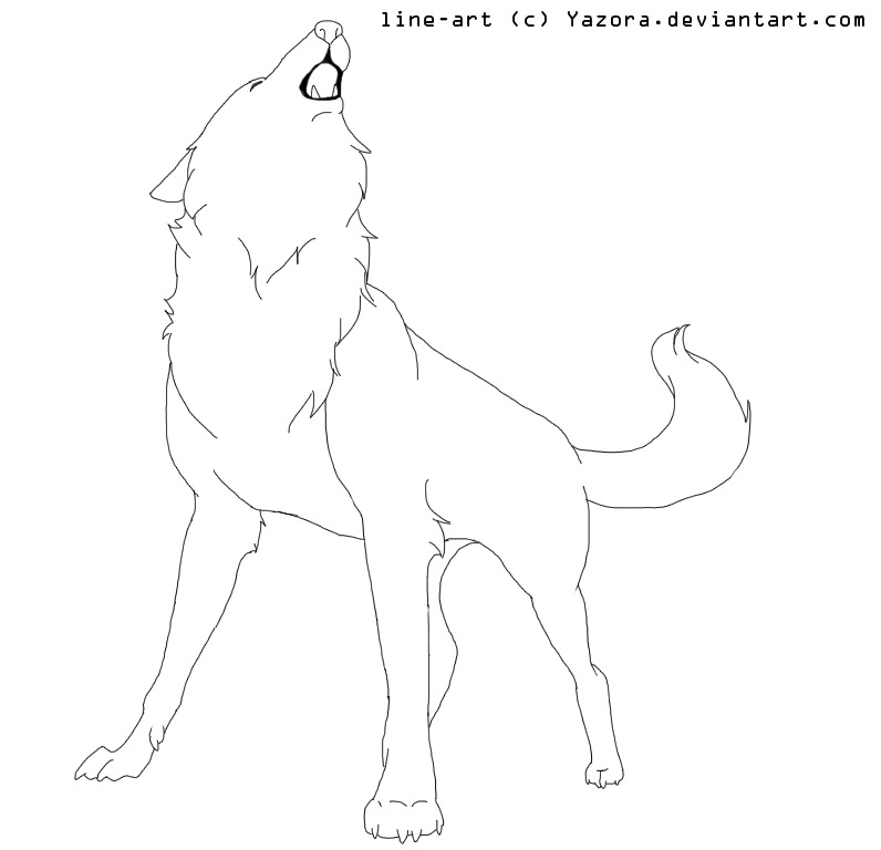 Howling Wolf Line Art by Howling Wolf Lineart