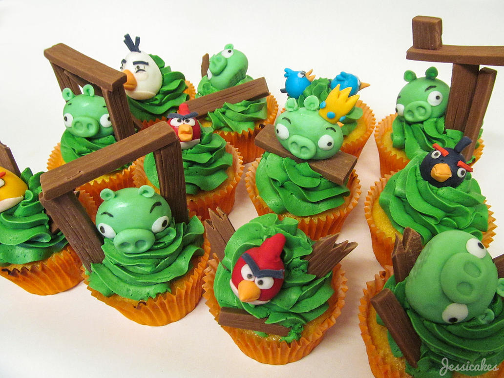 Angry Birds by thesearejessicakes