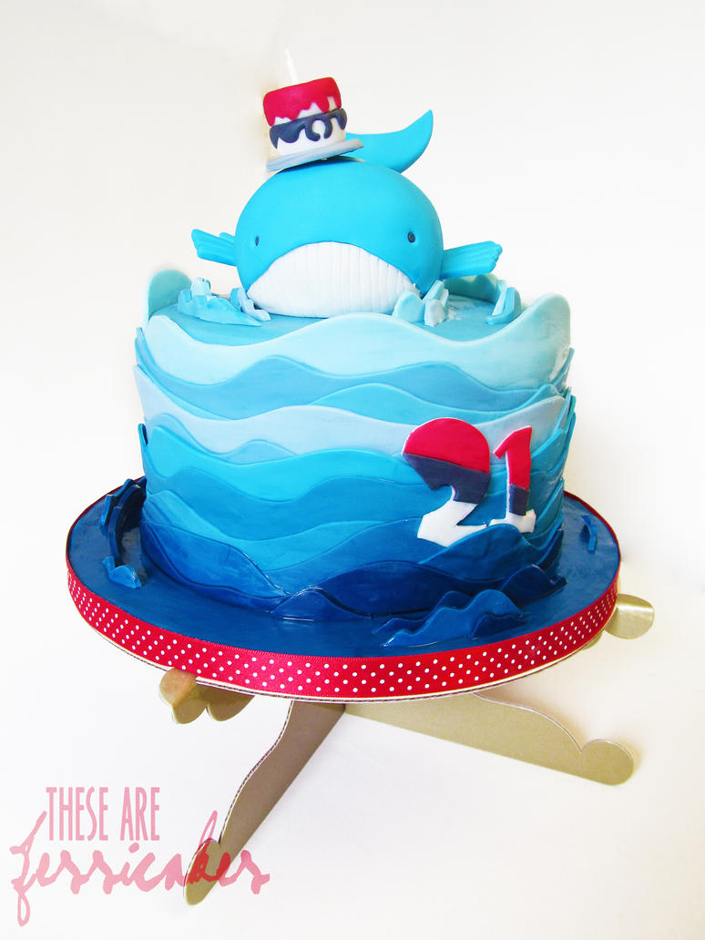 Wailord Birthday Cake. by thesearejessicakes